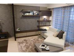 インテリアコーディネート リビングルーム|リビングと和室を一体に ダイナミックに。 2段式ソファは 活躍シーンもいっぱい。