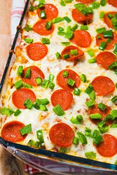 Pizza Roll Pasta Casserole is the perfect casserole for pizza lovers.