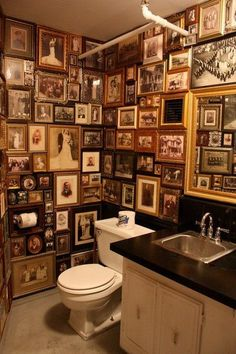 Never thought of decorating the toilet this way!