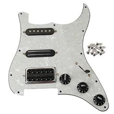 Beyond Loaded Prewired Pickguard Set SSH Alnico Dual Rail Humbucker for Fender Strat ST Electric Guitar Replacement