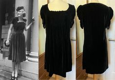 Velvet Dress Silk Velvet Dress Black Velvet Dress 1930s Style Dress 1940s Style Dress Black Dress Short Sleeved Dress Ruched Dress by STILLCHIC on Etsy 1940s Fashion Dresses, 1930s Fashion, Black Velvet Dress, Dress Black, Ruched Dress, Silk Dress, Old Hollywood Dress, 1930s Style, 1930s Dress