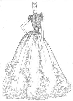 Collection of Wedding Dresses made for Arushi couture Wedding Dress Sketches, Dress Design Sketches, Fashion Design Sketchbook, Fashion Design Drawings, Fashion Sketches, Wedding Dresses, Fashion Illustration Hair, Dress Illustration, Fashion Figure Drawing