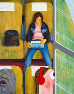 "Nicole Eisenman, ""Weeks on the Train"" (2015), oil on canvas, 82 x 65 inches (courtesy the artist and Anton Kern Gallery, New York; © Nicole Eisenman)"