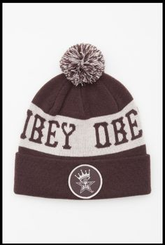 Repin: OBEY clothing <3 gorro DigitalThreads.co