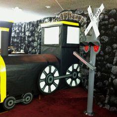 VBS 2012 Sonlight Express Train idea - train in tunnel
