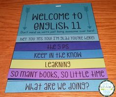 High School English Syllabus. Flipbook for big kids. This is my kind of teacher: she likes everything about elementary except the kids! LOL!