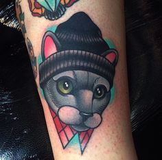 Cat beanie neotraditional