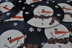 Vinyl Snowman Record