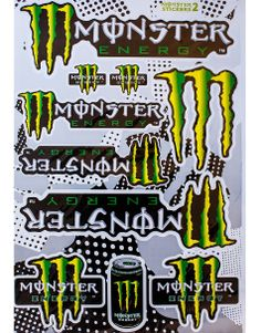 Monster Energy Claws X Large Decals Sheet for the whole bike!