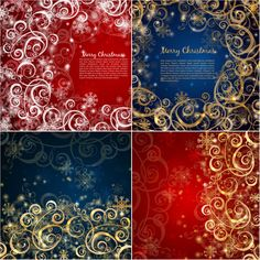 Christmas ornaments background vector