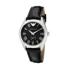 Emporio Armani Damen-Armbanduhr XS Classic Collection Analog Leder AR0644