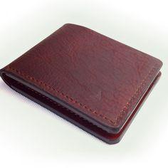 Buffalo leather bifold wallets