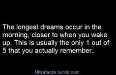 Dreaming facts .