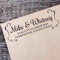 Return Address Self Inking Stamp, Wedding Return Address Self Inking Stamp, Custom Address Stamp - 031 by IntricutCreations on Etsy