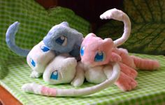 Mew friends - Handmade plushies by Piquipauparro on DeviantArt