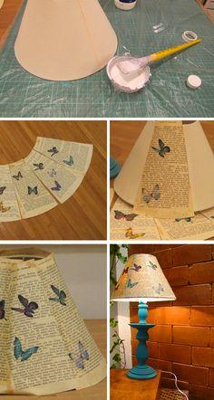 Abajur* DIY - Via Casa de Colorir   ( http://www.casadecolorir.com.br )