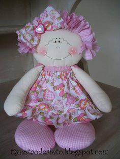 Boneca de Pano - rosa