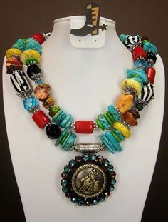 Multicolor / Zebra / Barrel Racer Concho by CayaCowgirlCreations, $55.00