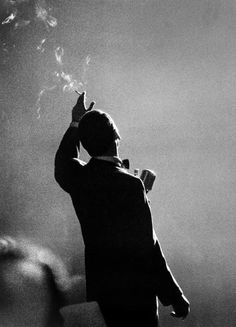 Frank Sinatra performing in Monte Carlo photographed by Herman Leonard, 1958