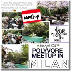 Polyvore Milano Meetup - the location of the meeting! by georginamaybrown on Polyvore featuring polyvoremeetup