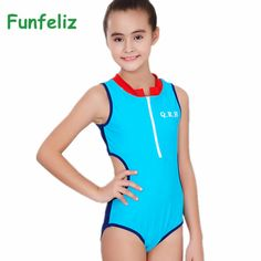 676237e5e1 2016 Girls Sports Swimsuit one piece swimwear for Kids Blue Pink Swimming  Suit Quality Girls Swimwear Children Swimming Clothes-in Children's One- Piece ...