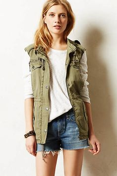 AG Pixie Cut-Off Shorts. love this look shorts and vest