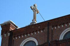 B Side - B-side of a cross over the Tempio Ossario - Bassano del Grappa… City Architecture, Track Lighting, Ceiling Lights, Outdoor Ceiling Lights, Ceiling Fixtures, Ceiling Lighting