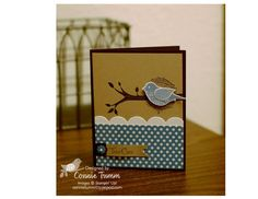Birdie card-001-I love this layout and scallop edge - think it would be great with lots of stamp sets.