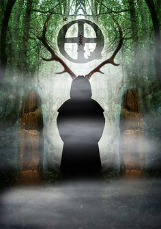 The Green Man, Cernunnos. Herne the Hunter. Herne The Hunter, Celtic Mythology, Druid Symbols, Pagan Gods, Pagan Art, Vikings, Wiccan, Witchcraft, Fantasy Forest