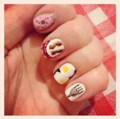 Breakfast  http://www.sunnyanderson.com/blog/seven-food-nail-art-looks-that-could-potentially-turn-you-into-a-nail-biter/