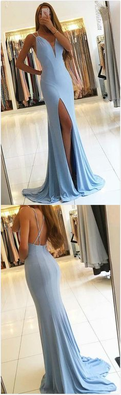 Gorgeous Prom Dress,Chiffon Prom Dress,Sexy Mermaid Prom Dress,Sleeveless