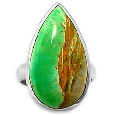 Variscite 925 Sterling Silver Ring Jewelry s.7 VRSR101 - JJDesignerJewelry