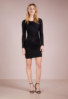 Versace Jeans Sukienka etui - nero - Zalando.pl Versace Jeans, Dresses, Fashion, Vestidos, Moda, Fashion Styles, Dress, Fashion Illustrations, Gown