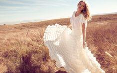 Woman in White Dress Wallpaper