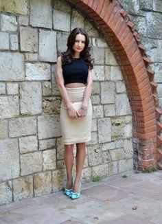 Mango top, H & M skirt, Carvela by Kurt Geiger shoes