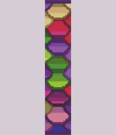Colorful Clams Bracelet Bead Pattern Loom and Two Drop Peyote on Etsy, $6.74 AUD