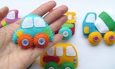 TECHICS felt magnets for kids Cars toys Kids car baby boy image 1 Felt Diy, Felt Crafts, Toys For Boys, Kids Toys, Nursery Toys, Felt Decorations, Montessori Toys, Baby Boy Nurseries, Felt Ornaments