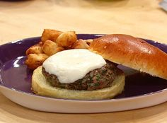 Made this Uptown Burger (a Rachael Ray recipe) for dinner tonight.  Best burgers I've ever made!!