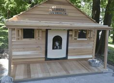 Bad ass dog house! You can even install central air and heat. My ...