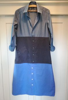 Loni Kreativwerkstatt / Hemdblusenkleid aus Herrenhemden.  #upcycling #refashion