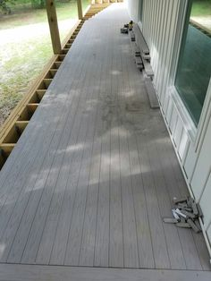 Finally, the porch decking!