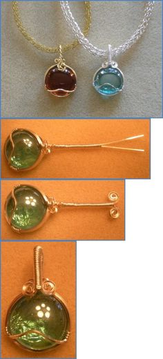 Wrapping glass pebbles. A good project for beginners. #wire #jewelry #tutorial