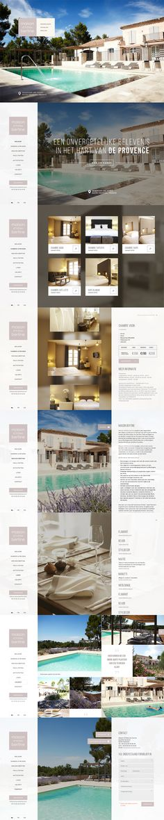 Website for Maison Bertine - Bed&Breakfast in the Provence - Designed by…