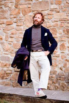 Suit Jacket Dress, Casual Outfits, Men Casual, Navy Coat, Italian Men, Preppy Look, Winter Fashion, Menswear, Street Style