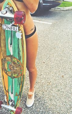 My longboard (without stickers and with different wheels) Girls Skate, Surf Girls, Vans Girls, Summer Vibe, Summer Fun, Bmx, Sup Yoga, Skate Style, Skateboard Girl