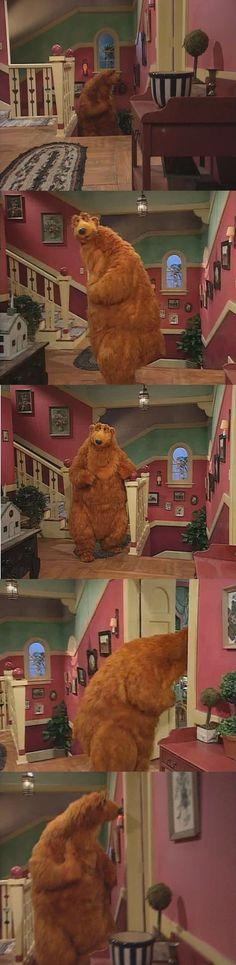 Bear in the Big Blue House Hallway