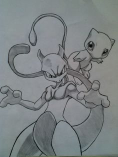 Mew and MewTwo  A bit shadowed :P