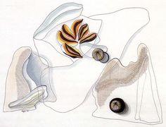 gilliflower: arsvitaest: Toyen, drawing, 1932 (via calypsospots) Art Academy, Black And White Drawing, Prague, Surrealism, Bee, Paris, Abstract, Friends, Drawings