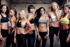Nike Athletes - Hope Solo, Allyson Felix, Laura Enever, Li Na, Sofia Boutella, Maria Sharapova and Perri Shakes-Drayton