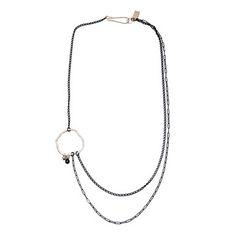 Alexis Russell: Asymmetrical Diamond Necklace